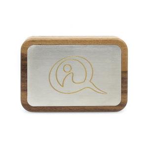 Das Qi Mobile Walnuss - auch mobile vor Elektrosmog geschützt
